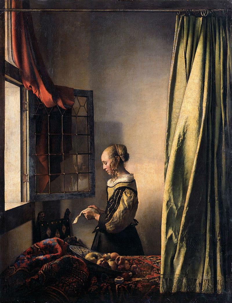 Ян Вермеер Дельфтский - Девушка читающая письмо у открытого окна.jpg