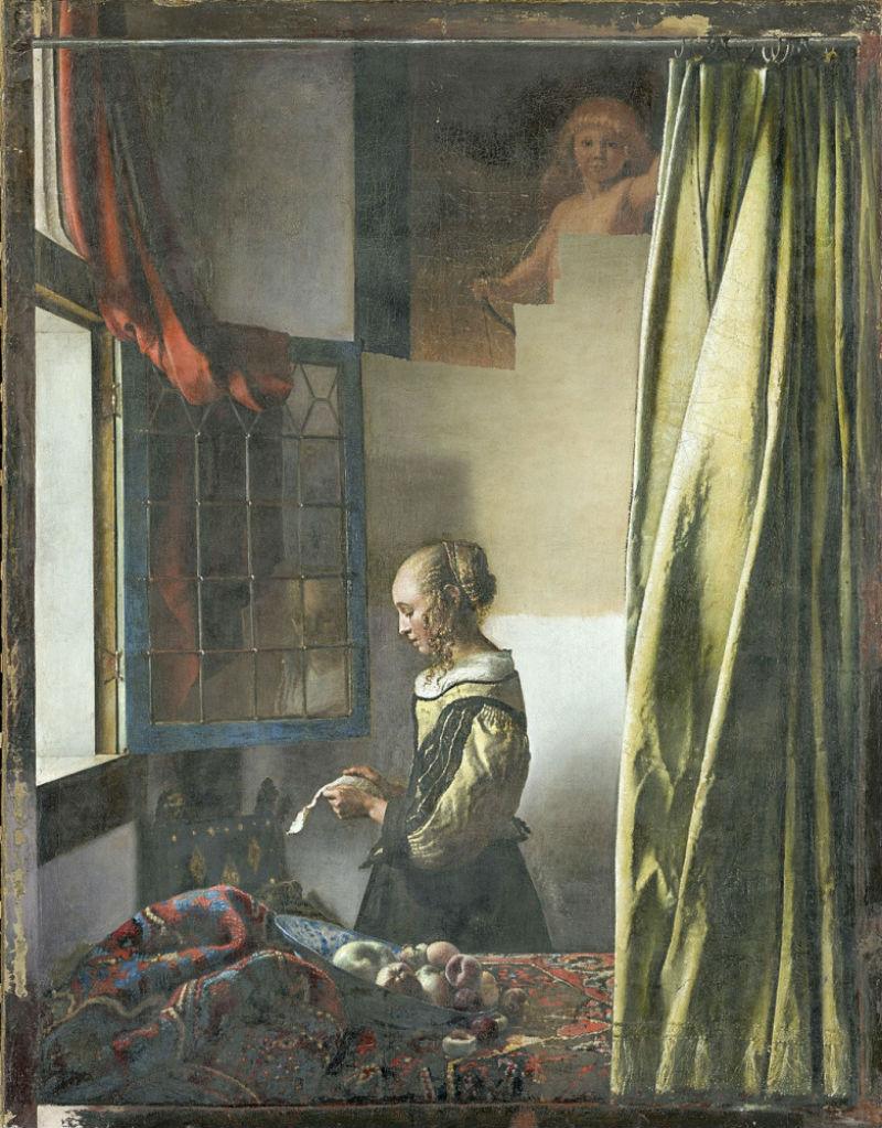 Ян Вермеер - Девушка с письмом у окна -  в процессе реставрации.jpg