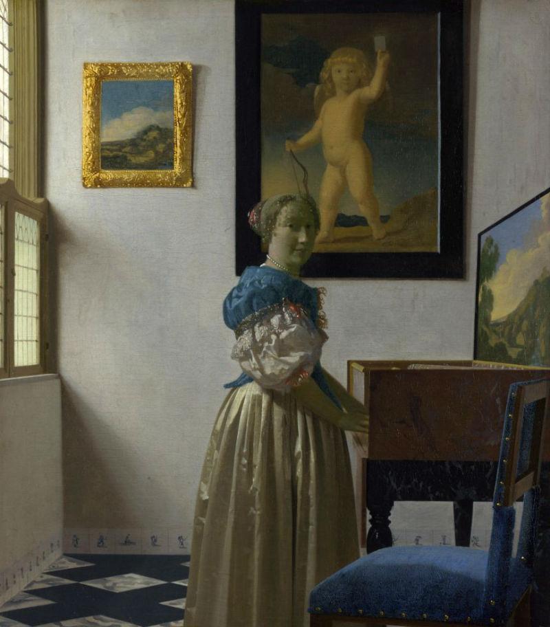 Ян Вермеер - Дама стоящая у вирджиналя - 1670-е.jpg