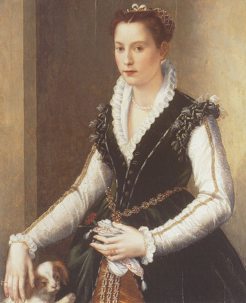 Алессандро Аллори - Портрет Изабеллы де Медичи с собачкой - 1560.jpg