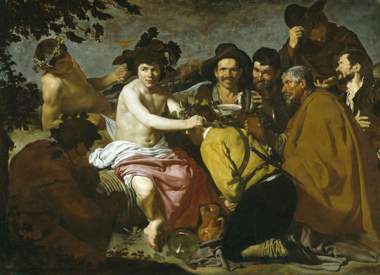 7-Диего Веласкес - Триумф Вакха (Пьяницы) - 1629.jpg