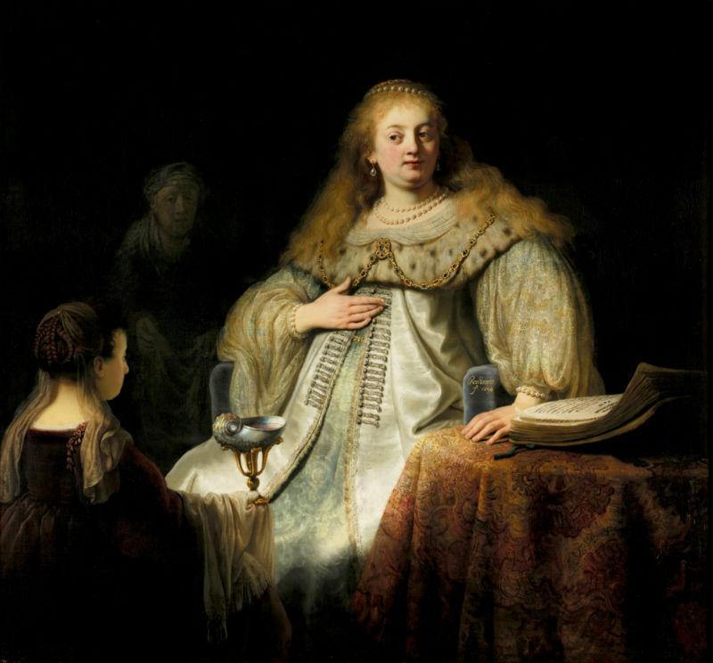 15-Рембрандт Харменс ван Рейн - Софонисба принимает чашу с ядом - 1634.jpg