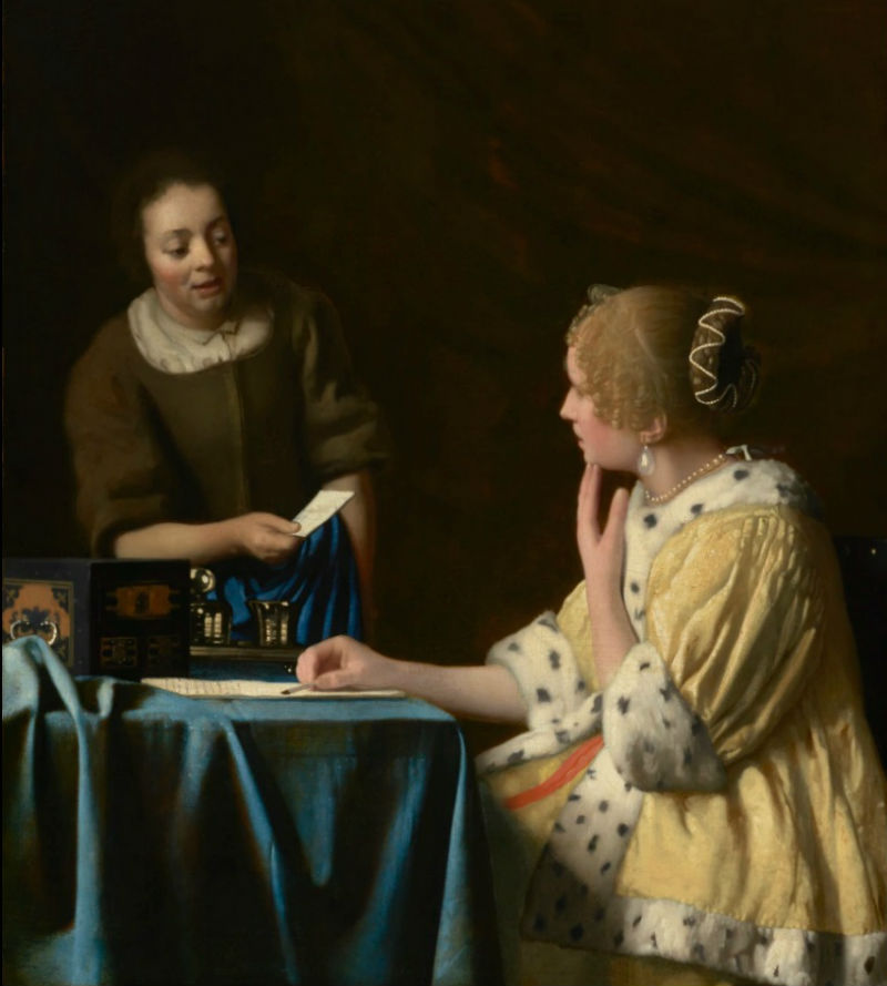 Ян Вермеер - Хозяйка и служанка - 1666-1668 - Коллекция Фрика - Нью-Йорк.jpg