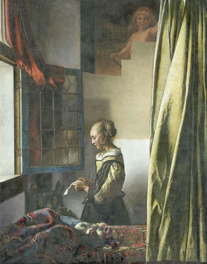 Ян Вермеер - Девушка с письмом у окна - после реставрации.jpg