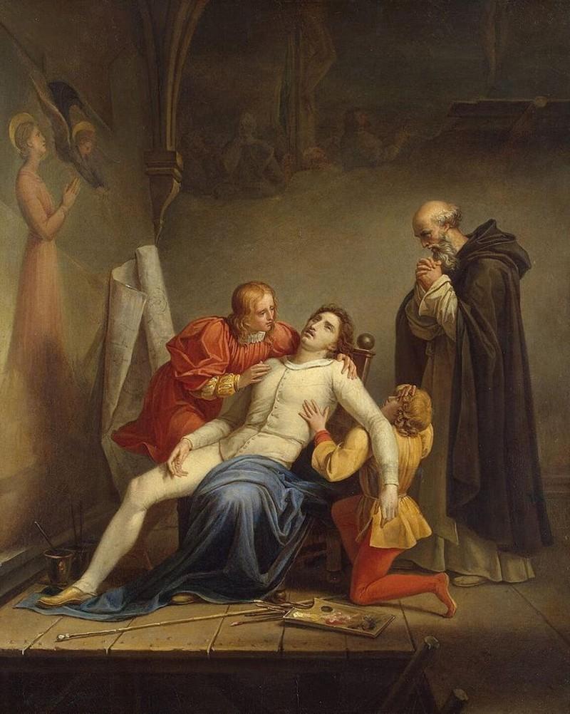 Шарль Огюст Кудер - Смерть Мазаччо - около 1817 - Эрмитаж.jpg