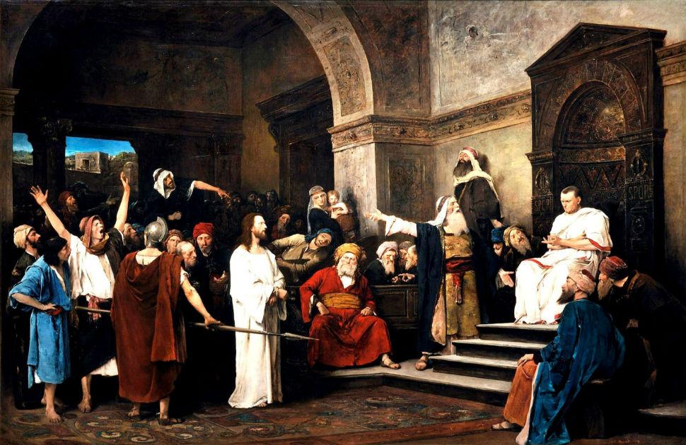 Михай Либ Мункачи - Христос перед Пилатом - 1881.jpg
