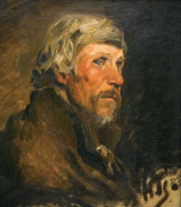 Николай Ге - Портрет крестьянина - 1887.jpg