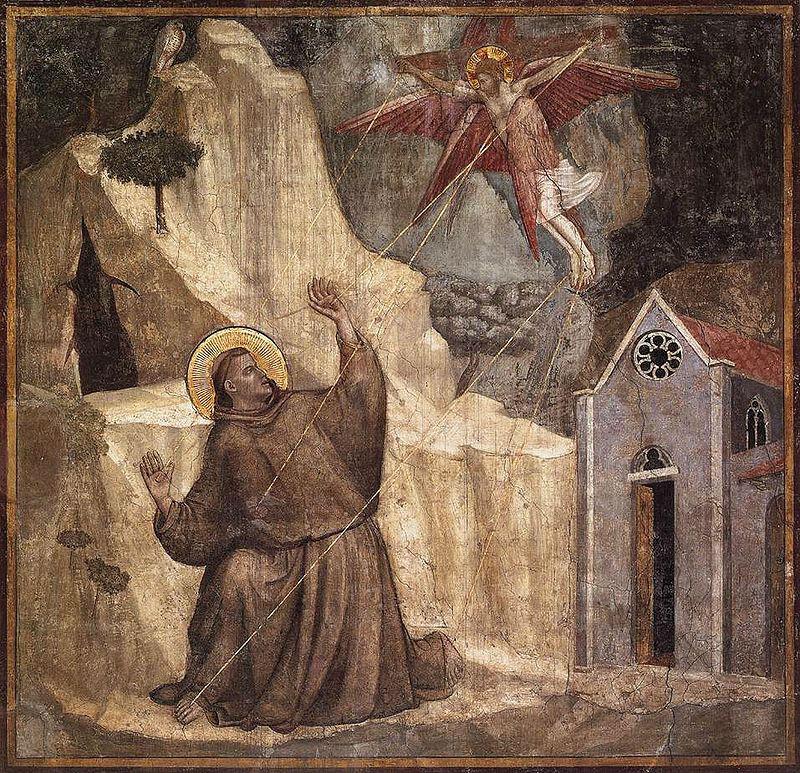 Стигматизация Святого Франциска - над аркой входа в капеллу.jpg