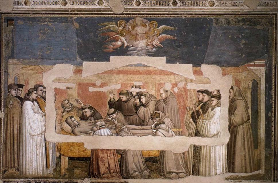 Святой Франциск на смертном одре или Смерть подтверджение стигматов и вознесение Святого Франциска.jpg