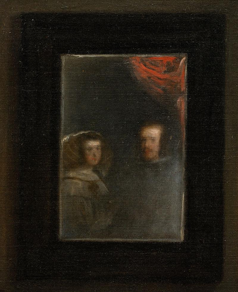 Живопись_Диего-Веласкес_Менины-1656-Фрагмент.-Портрет-Филиппа-и-его-супруги-Марианны.jpg