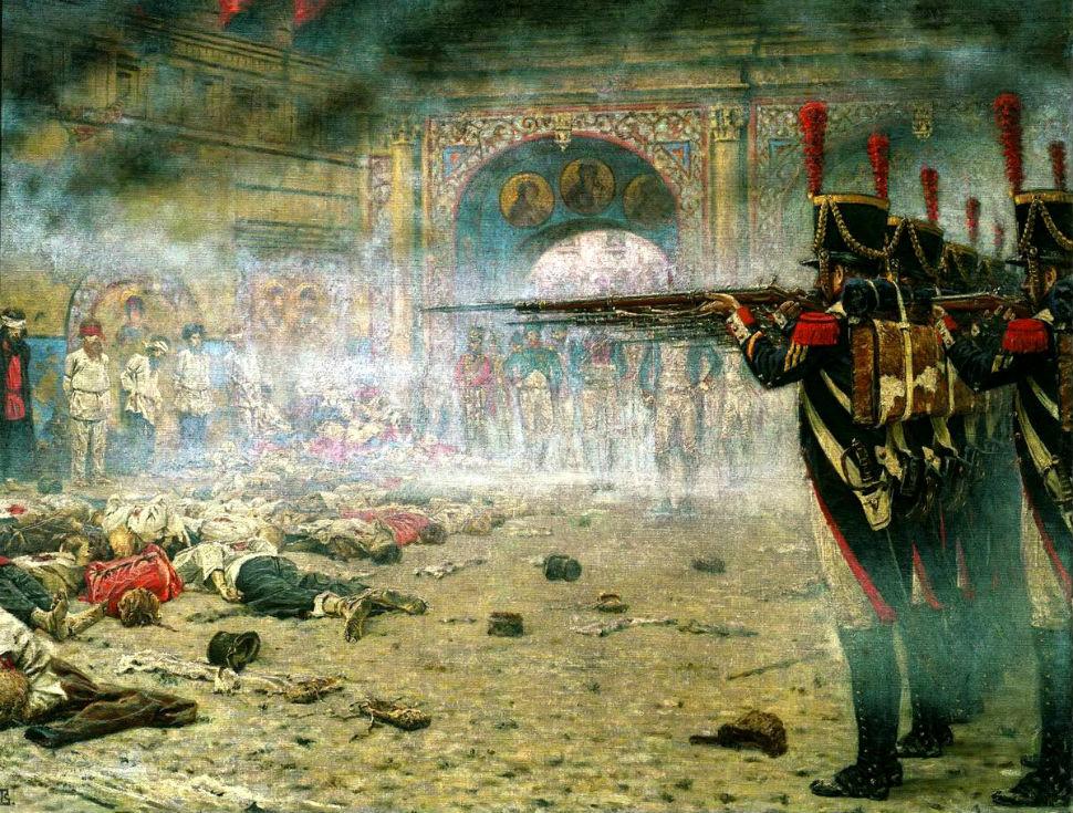 Василий Верещагин  В покорённой Москве («Поджигатели» или «Расстрел в Кремле») 1887-88.jpg