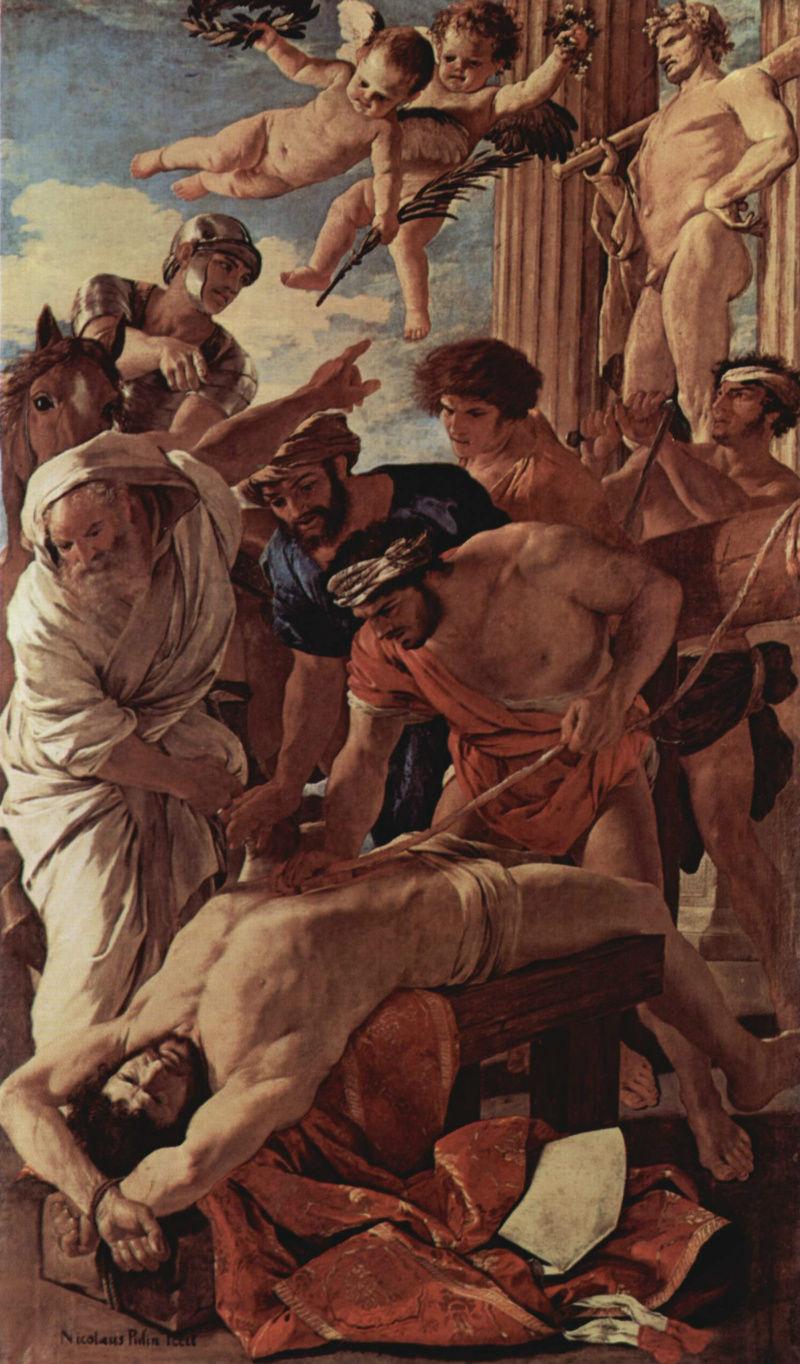 Никола Пуссен - Мученичество святого Эразма -  1600-1604.jpg