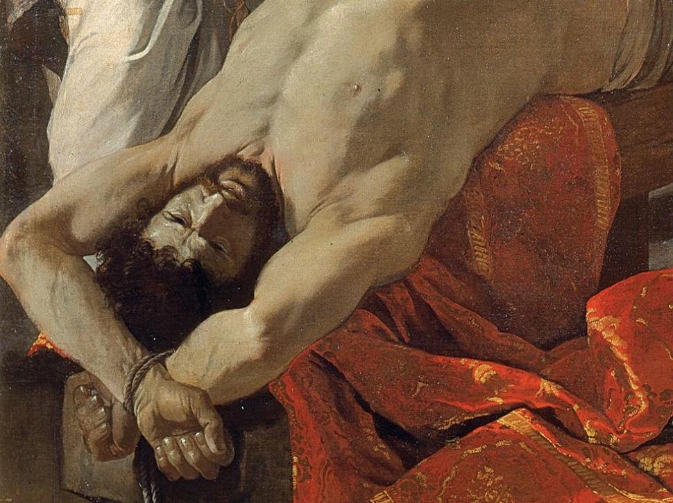 Никола Пуссен  Истязание святого Эразма (фрагмент 1).jpg