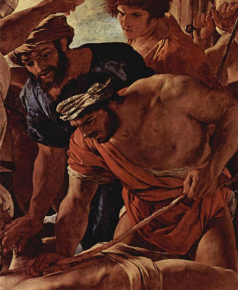 Никола Пуссен  Истязание святого Эразма (фрагмент 2).jpg