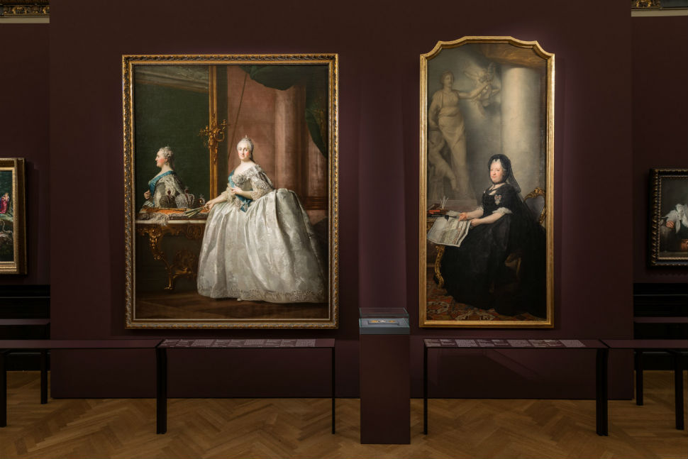 2-Фрагмент экспозиции «Старые мастера из Эрмитажа. Шедевры от Боттичелли до Ван Дейка» в Музее истории искусств в Вене.jpg