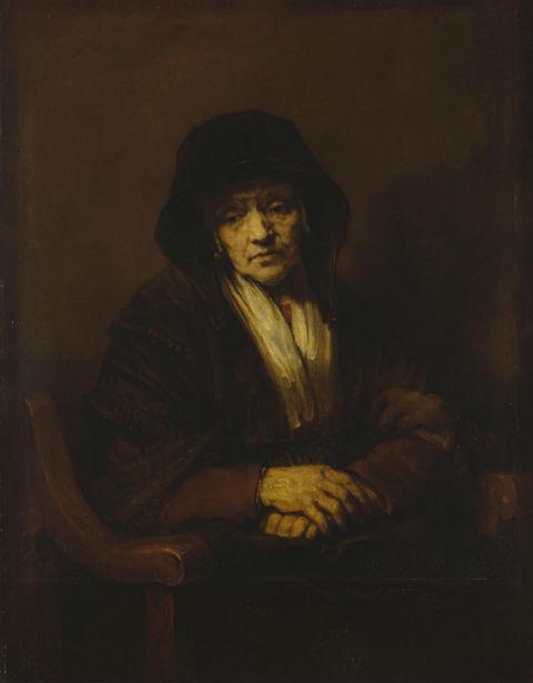 3-Рембрандт Харменс ван Рейн - Портрет старушки 1654.jpg