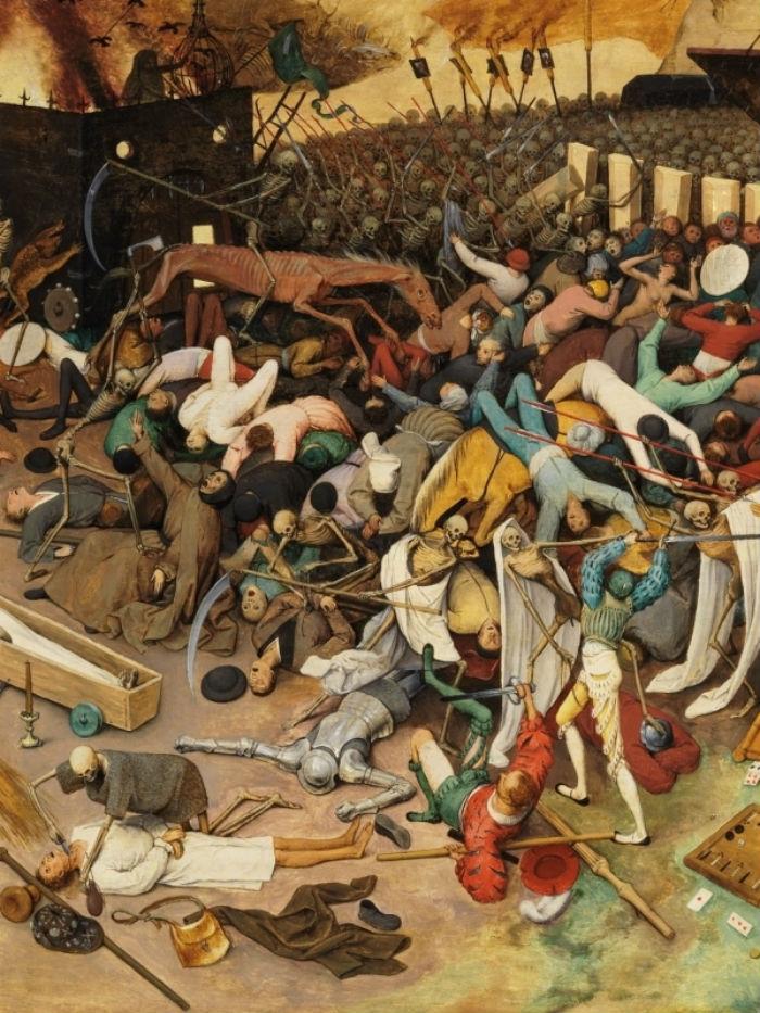 3-Питер Брейгель Старший - Триумф смерти - (фрагмент_ - Побоище - Музей Прадо - Мадрид.jpg