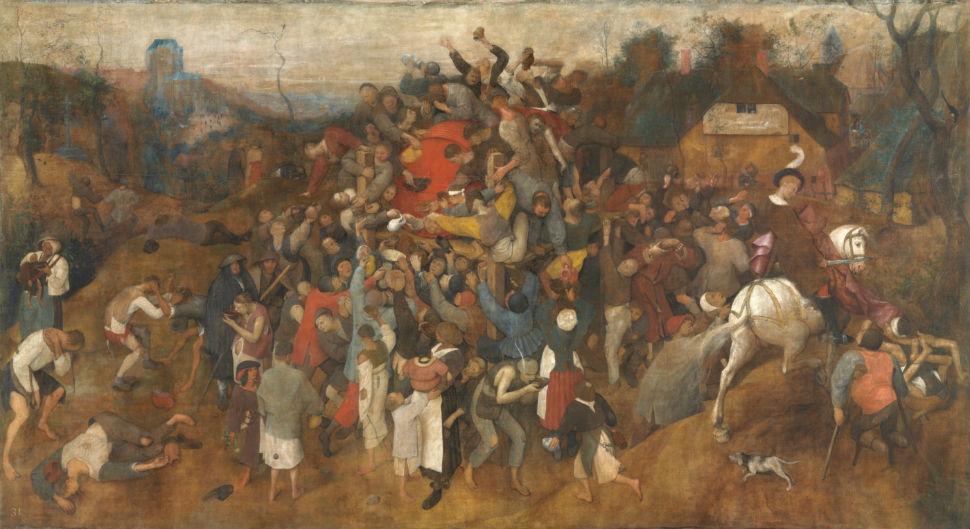 4-Питер Брейгель Старший - Праздник вина в День святого Мартина - 1567 - Музей Прадо - Мадрид.jpg
