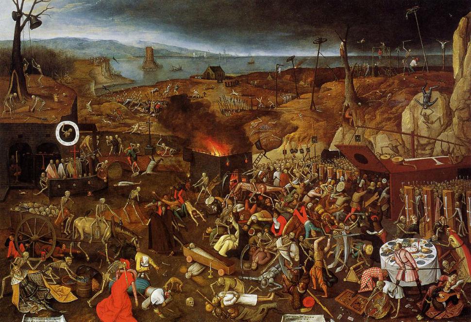 5-Питер Брейгель Младший - Триумф смерти - 1610-е годы - копия картины отца - частная коллекция.jpg