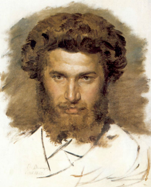 5-Виктор Васнецов - Портрет художника Архипа Ивановича Куинджи - 1869 - ГТГ.jpg