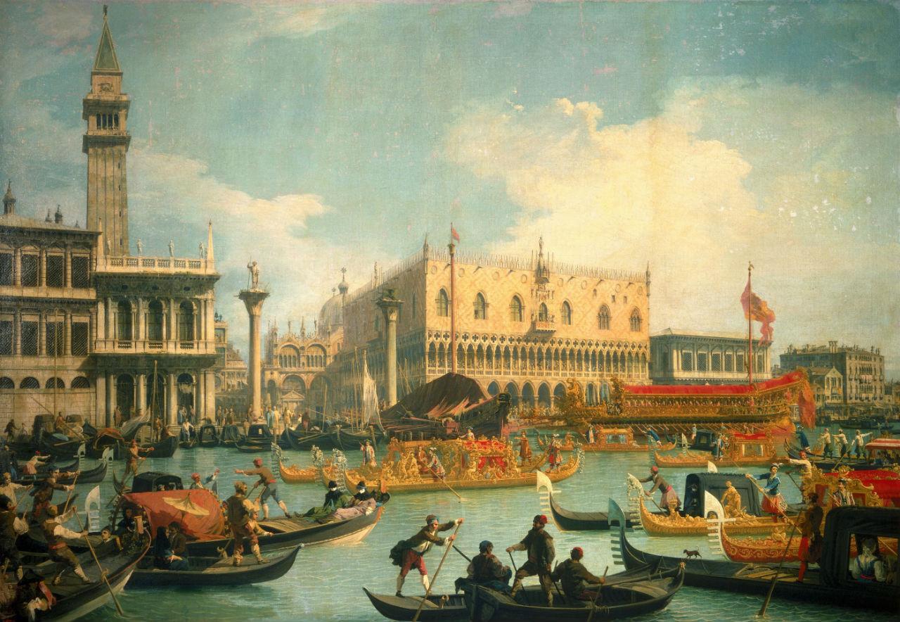 4-Каналетто - Возвращение Бучинторо к молу у дворца Дожей.jpg