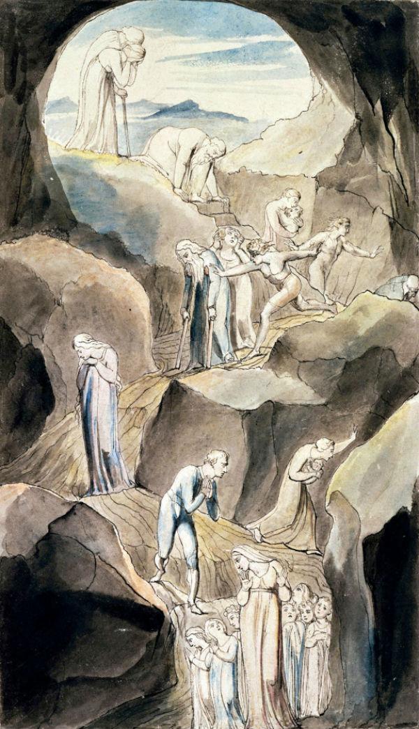 """3-«Сошествие людей в Долину Смерти - Иллюстрация к поэме Роберта Блэра """"Могила""""» (1805).jpg"""