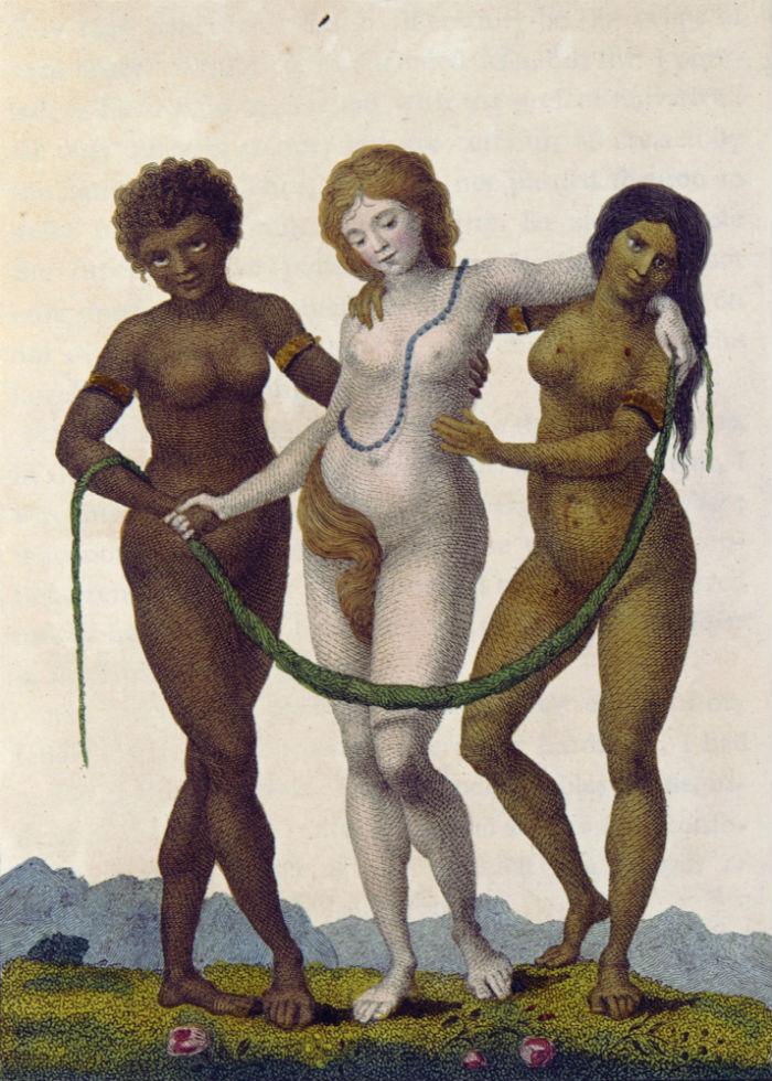 6-Уильям Блейк - Европа поддерживаемая Африкой и Америкой - Рассказ о пятилетней экспедиции против восставших негров Суринама - 1796.jpg
