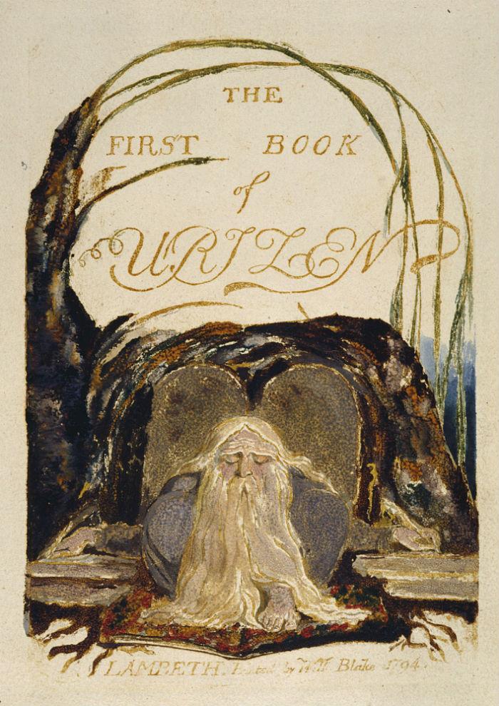 11-Уильям Блейк - Первая книга Уризена - Титульный лист - Уризен перед книгой - 1794.jpg