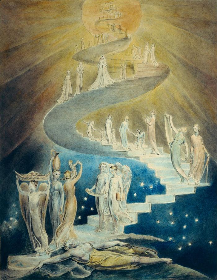 12-Уильям Блейк - Иллюстрации к Библии - Лестница Иакова - 1805.jpg