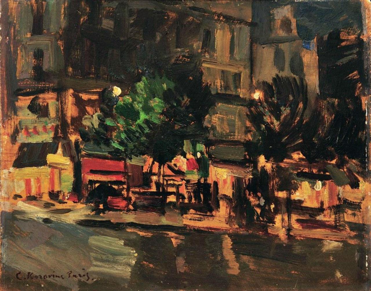 2-Константин Коровин - Париж ночью - Рю де Риволи - 1929.jpg