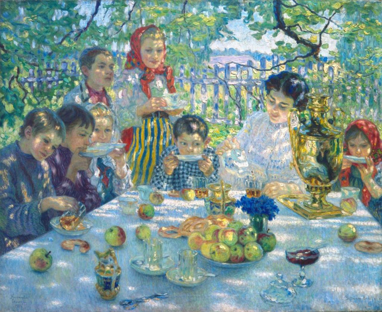 3-Николай Богданов-Бельский - Чаепитие у учительницы - 1910.jpg