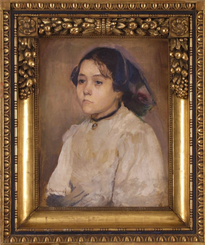 7-Мария Башкирцева - Портрет девушки - 1880.jpg