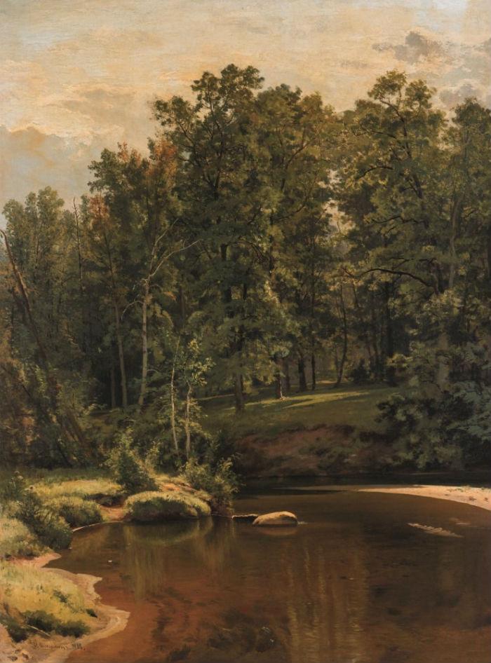 9-Иван Шишкин - Лес и река - 1886.jpg