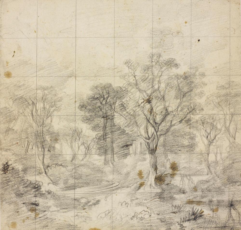 3-Томас Гейнсборо - Рисунок к картине Корнардский лес.jpg