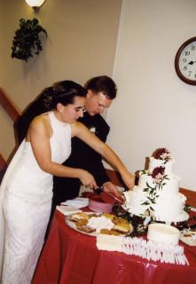 cake cutting wedding 1998