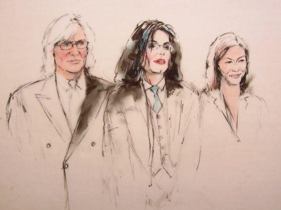 Майкл Джексон, Том Мезеро и Сьюзан Ю. Тот самый рисунок, который так понравился Майклу.