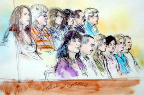 Но он все-таки нарисовал присяжных.