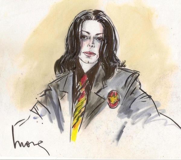 Майкл Джексон, рисунок Моны Шейфер-Эдвардс