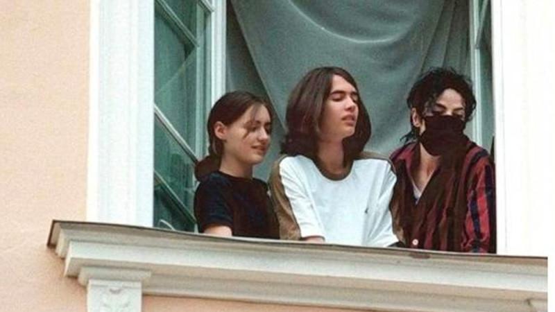 Майкл Джексон с Франциской и Антоном Шлейтором в Германии