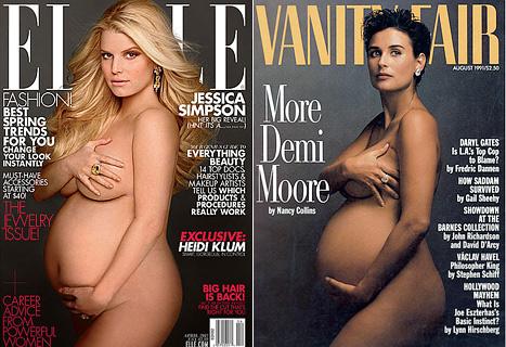 беременная джессика симпсон для elle