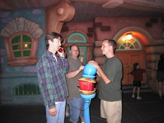 Erik, Danny, and Mike in Toontown