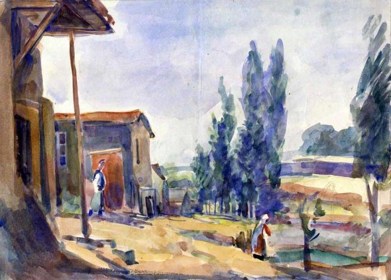 Амшей Нюренберг, Уголок старого Ташкента, 1942