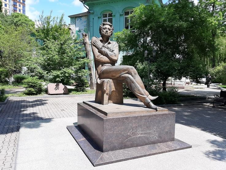 Одна из последних работ: Пушкин в Уссурийске.