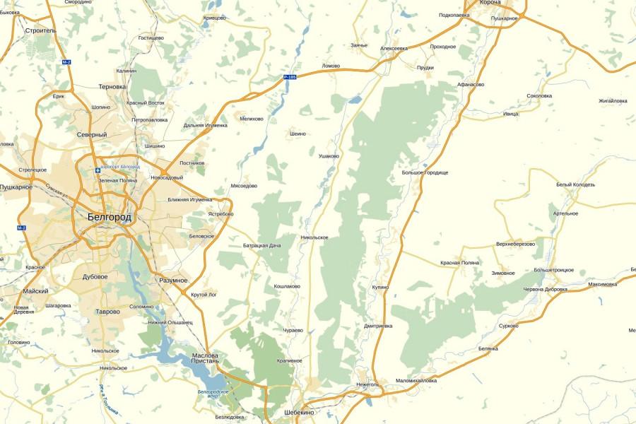Карта Шебекинского района