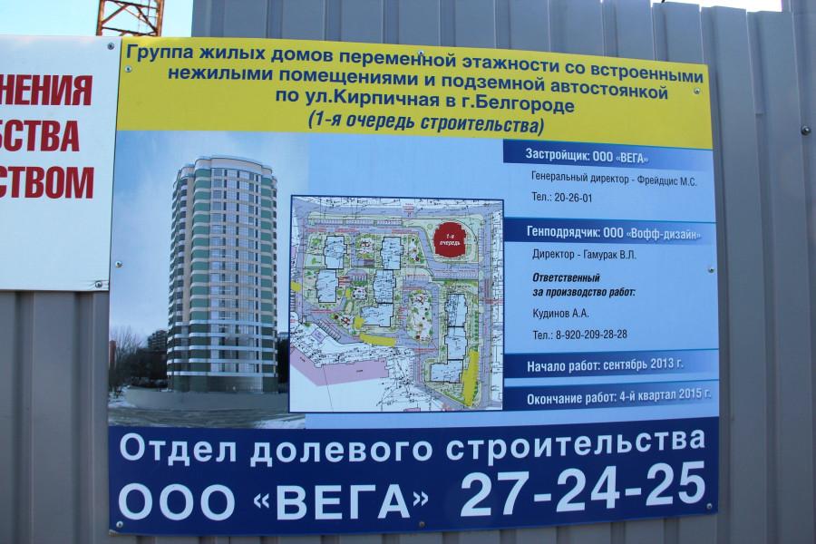ООО Вега строительство в районе улицы Кирпичной
