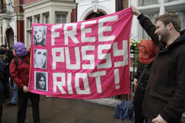 "Evgeny Legedin (Евгений Легедин) at the Russian Embassy ""Free Pussy Riot"" photography Darren Adams"