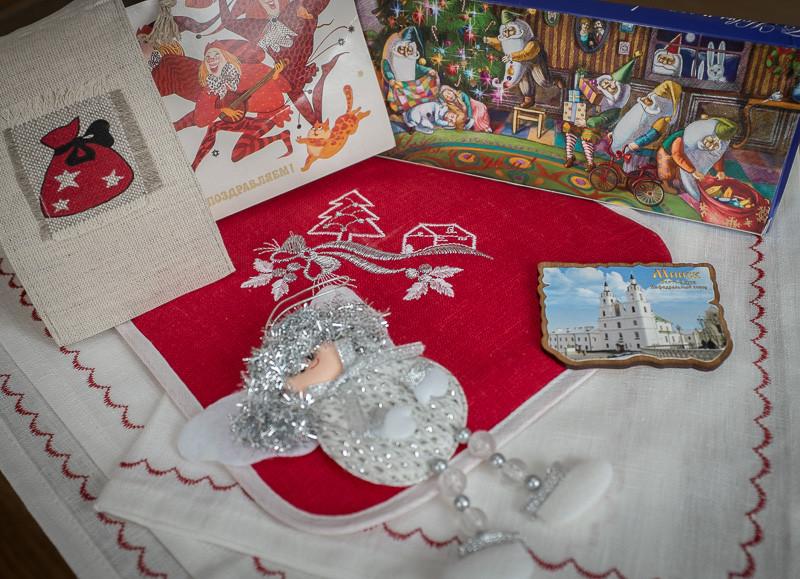 Лен, шоколад, скоморохи и новогоднее настроение. :)