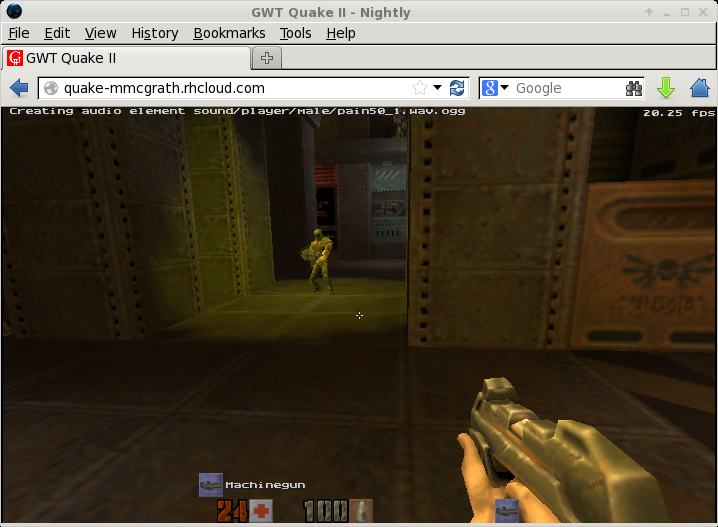 quake2-gwt screenshot