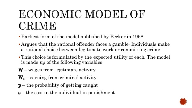 economic model of crime Ebscohost serves thousands of libraries with premium essays, articles and other content including the impact of marijuana law enforcement in an economic model of crime.