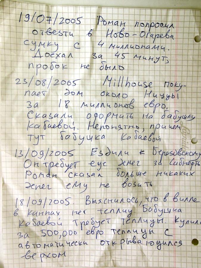 Что скрывают дневники шоферов Усманова и Абрамовича?
